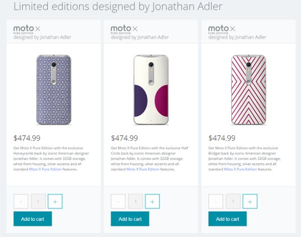Лимитированная коллекция смартфонов Moto X Pure Jonathan Adler Design